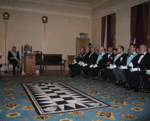 Installation of Steve Sandford as WM of Holme Valley Lodge