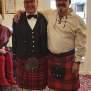The Laird for the evening and Graeme Hogg