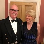 WM Martin Wright with wife Karen